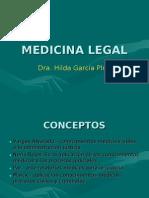 Concepto y Definicion de Medicina Legal