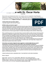Interview with Dr. Óscar Horta ENGLISH