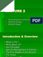 L2 - ITIL v3 - Overview, SV Strategy, SV Design