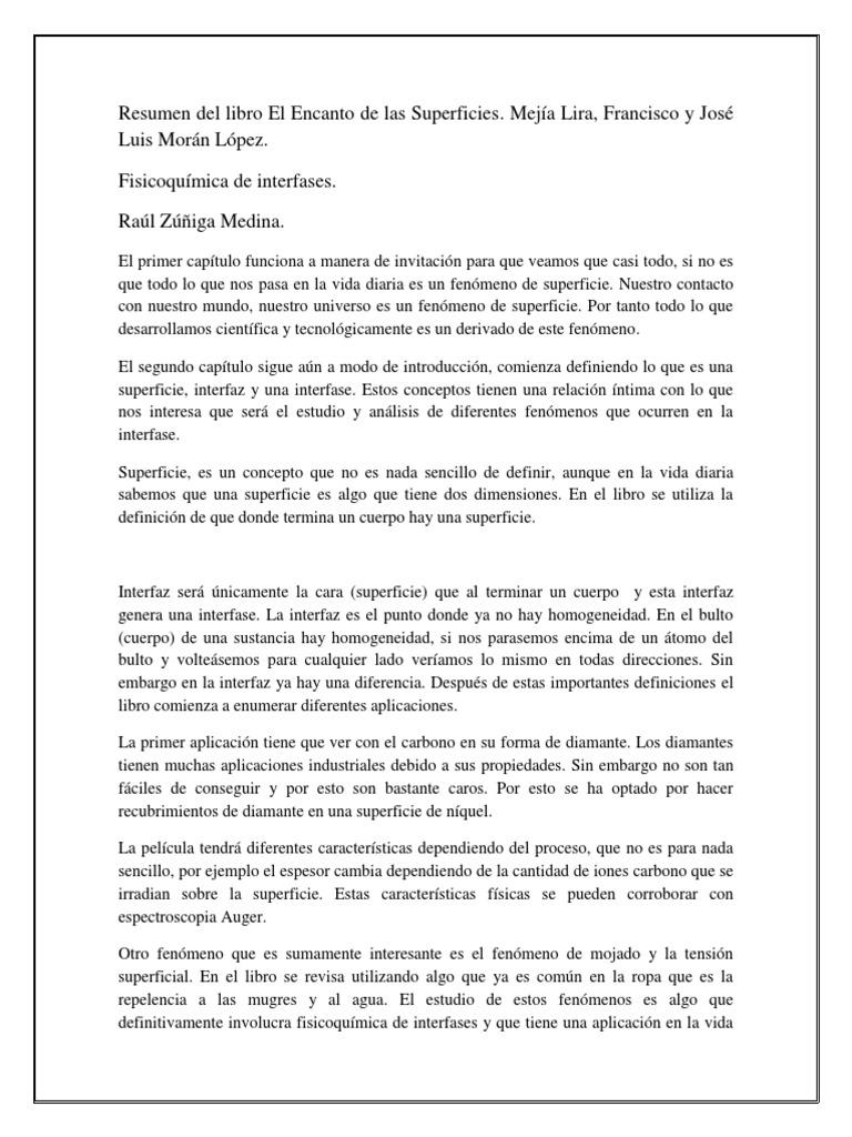 Resumen Del Libro El Encanto de Las Superficies.