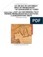 BAY OF PIRAN OR BAY OF SAVUDRIJA? AN EXAMPLE OF PROBLEMATIC TREATMENT OF GEOGRAPHICAL NAMES, Drago Kladnik, Primož Pipan, 2008