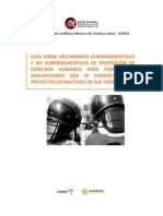 Guía sobre mecanismos gubernamentales y no gubernamentales de protección de derechos humanos para personas y agrupaciones que se enfrentan con proyectos extractivos en sus tierras