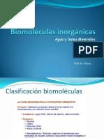 Biomoléculas Inorgánicas Agua