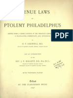GRENFELL,, BP (1896) - The Revenue Laws of Ptolemy Philadelphus