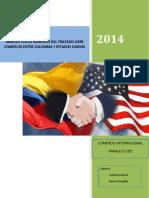 Analisis Costo Beneficio Del Tratado Libre Comercio Entre Colombia y Estados Unidos
