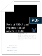 Role of FEMA and Repatriation of Assets in India