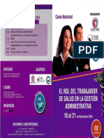 El Rol Del Trabajador de Salud en La Gestión Administrativa. 18-21 de Noviembre 2014
