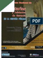 Secretarias y Asitemtes de Gerencia en La Gestión Pública. 18 y 19 - Noviembre 2014
