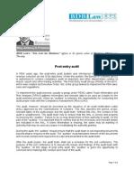 347. Post-Entry Audit AGP 6.8.12