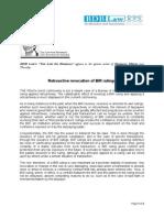 218. Retroactive Revocation of BIR Rulings BDB 10.27.11