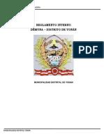 Reglamento Interno de La Estructura Orgánica de La Defensoría Municipal Del Niño y Del Adolescente