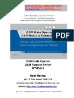 Manual de Mando a Distancia via Gsm