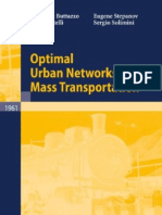 Optimizing Urban Network via Mass Transport