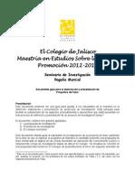 Documento Guía Proyectos Investigación Maestría