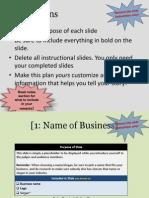 fy14 business plan presentation template