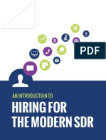 Introduction for Hiring the Modern SDR - Betts Recruiting