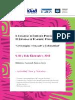 Tercera Circular Congreso de Estudios Poscoloniales