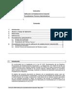 Instructivo de Calificación de Establecimiento Industrial