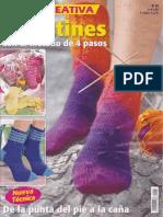 Revista LAURA CREATIVA Calcetines Con El Método de 4 Pasos