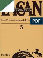 Lacan El Seminario 5 Las Formaciones Del Inconsciente
