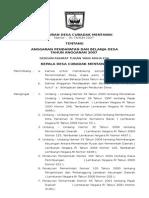 Contoh Peraturan Desa Cubadak Mentawai