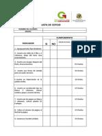 Lista de Cotejo Ficha Insertar