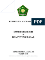 KI+KD KURIKULUM MADRASAH 2013
