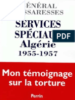 Services Speciaux - Algerie 1955-1957