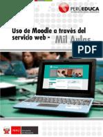Uso Del Moodle a Través Del Servicio Web Mil Aulas