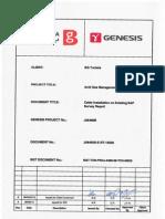 BG-TUN-PROJ-AGM-08-TCH-00029 Rev B Cable Installation on Existing SAP Survey Report