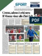 La Provincia Di Cremona 10-11-2014 - Calcio Lega Pro