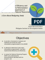 Assessment of the Efficiency and Effectiveness of the Reforestation Program of the Department of  Environment and Natural Resources