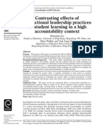 Contrasting Effects of Instructional Leadership Practices on Student Learning in a High Accountability Context