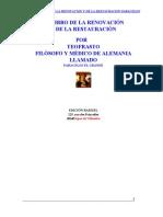 El Libro de la Renovación y de la Restauración - Paracelso