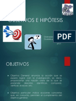 HIPOTESIS Y OBJETIVOS DE UN PROYECTO DE INVESTIGACION