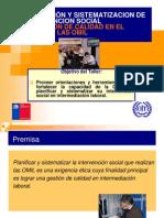Planificación y Sistematizacion de La Intervencion Social