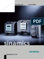 Sinamics G110 Instrucciones de OP