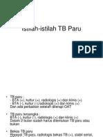 Istilah-Istilah TB Paru