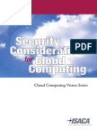 Security Considerations Cloud Computing