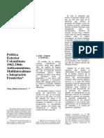 Anticomunismo-multilateralismo e Integración Fronteriza PEC 1962-1966