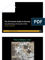 Lecture 2 42-Minute Guide to Stuxnet