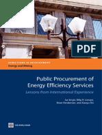 Public Procurement of Energy Efficiency Services
