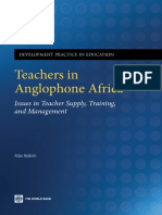 Teachers in Anglophone Africa