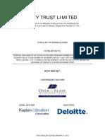 City Trust Ltd Circular to Shareholders