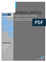 Human Capital impact on livelihoods of Hunza