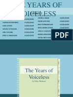 The years of voiceless