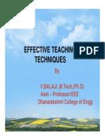 EFFECTIVE TEACHING TECHNIQUES.