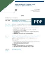 Russia Strategic Infrastructure Leadership Forum Agenda
