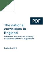 MASTER Final National Curriculum Until Sept 2015 11-9-13