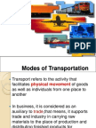 Modes of Transportation